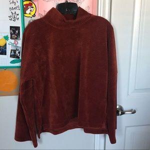 MW corduroy mock neck sweater